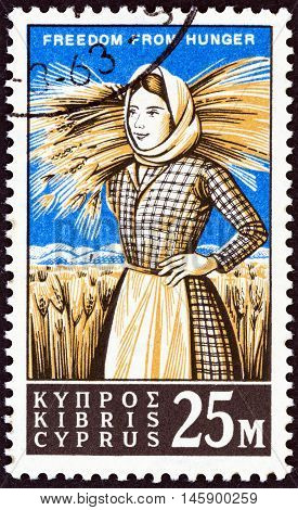 CYPRUS - CIRCA 1963: A stamp printed in Cyprus from the