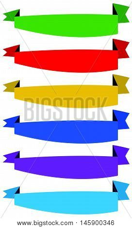 Banner / Ribbon Templates In Dynamic Style. 6 Colors.