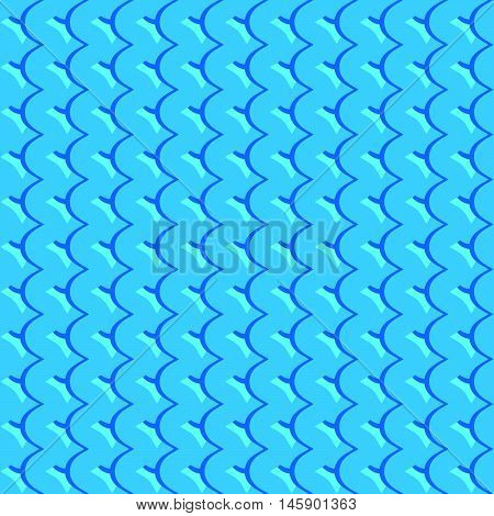 Pattern With Wavy, Billowy Intersecting Lines. Grid Of Irregular Lines Perfectly Seamless Pattern.