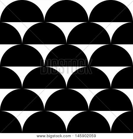 Geometric Black And White Pattern / Background. Seamlessly Repeatable.