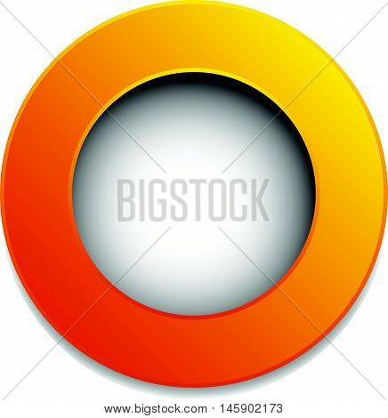 Colorful Circle Badge, Button, Pin, Label Element. Blank, Empty Circle Design