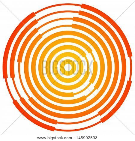 Random Segmented Circles / Rings. Radial, Radiating Circular Element