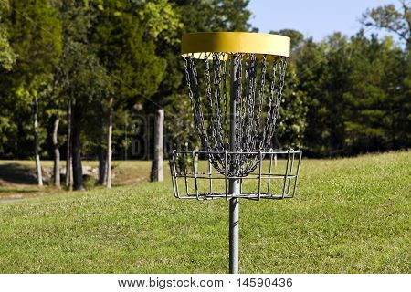 Yellow Disc Golf Target