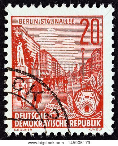 GERMAN DEMOCRATIC REPUBLIC - CIRCA 1955: A stamp printed in Germany from the
