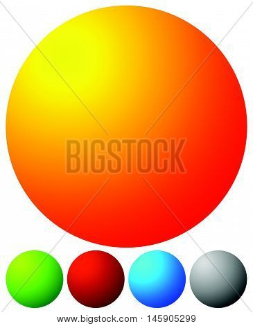 Bright, Vibrant Button, Badge Design Elements With Blank Space