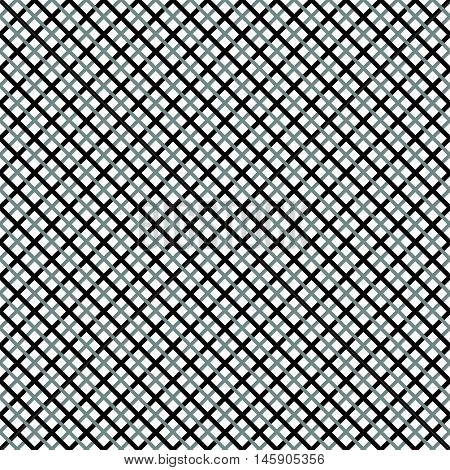 Grid, Mesh Pattern With Interlacing Lines. Cross, X Pattern. Seamlessly Repeatable.