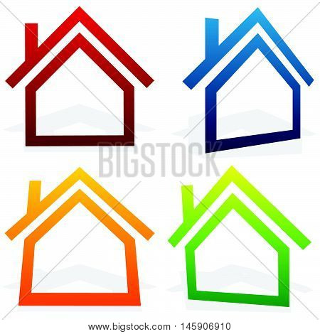 House (home, Suburban, Residential Building, Real Estate) Icons