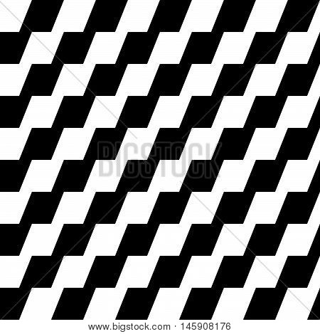 Repeatable Geometric Pattern With Zigzag Slanting Lines