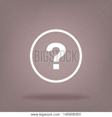 Flat Vector Question Icon
