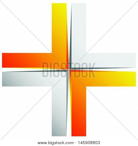 Bright Cross, X Sign, Icon - Generic 3D Design Element