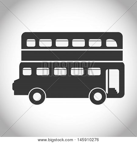 Silhouette of bus icon. London england landmark and british theme. Isolated design. Vector illustration
