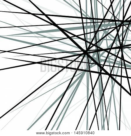 Random Chaotic Edgy Lines. Abstract Geometric Texture