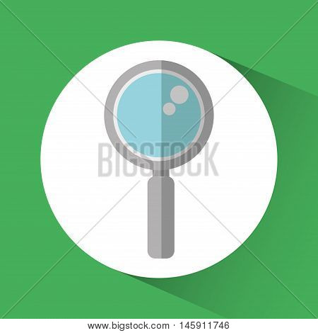 Lupe icon. Social network and media theme. Colorful design. Vector illustration