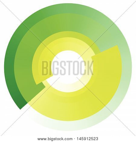 Fading Concentric Circles. Geometric Circular Element With Transparency