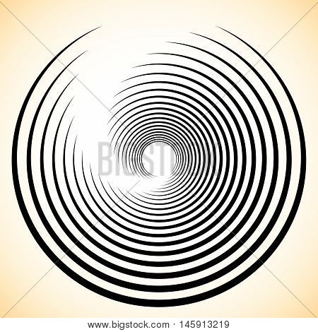 Spiral / Vortex Element. Concentric, Radiating Lines Abstract Graphic