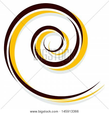Abstract Spiral Decoration Element In Red And Yellow