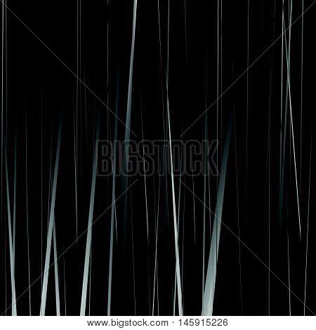 Geometric Monochrome Illustration With Random Vertical Lines, Streaks