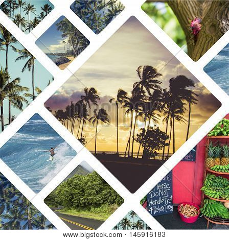 Collage Of Hawaii ( Usa ) Images - Travel Background (my Photos)