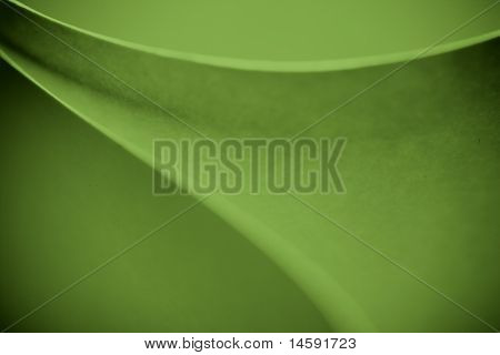 Green Color Tones Macro Background Picture Pattern Of Curved Sheets Of Paper