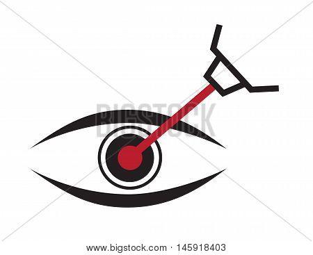 eye lasik icon , logo and vector
