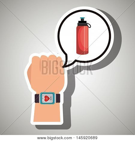 hand sport cardio smartwatch vector illustration eps 10