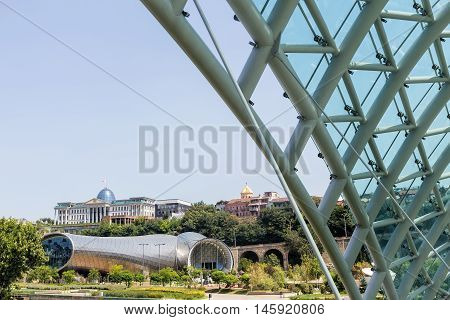 Exhibition Hall And Presidential Palace Are The Modern Tbilisi