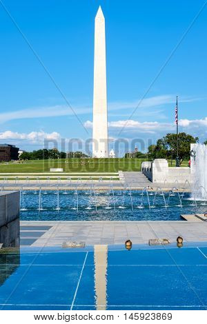 The Washington Monument on a summer day in Washington D.C.