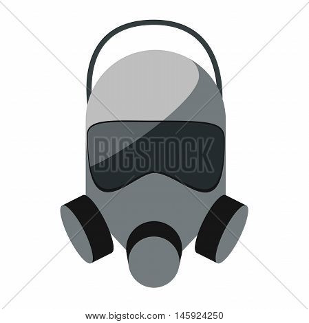 flat vector icon of gas mask isolated on white background
