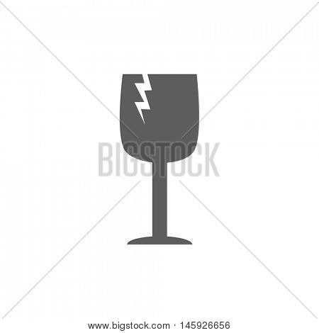 Fragile icon illustration isolated on a white background