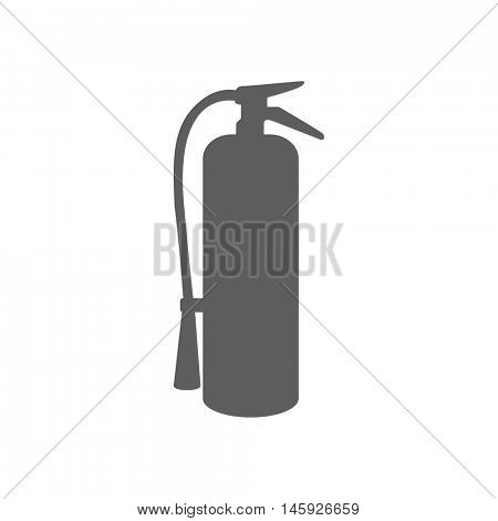 Fire extinguisher icon illustration isolated on a white background