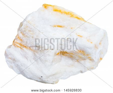 Piece Of Barite Ore Isolated On White