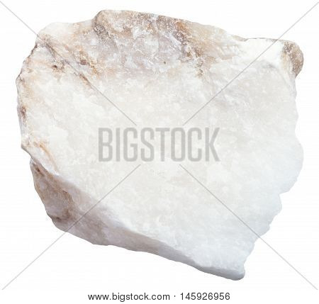 Anhydrite Stone Isolated On White Background