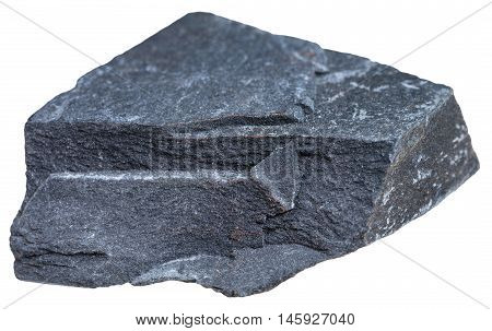 Argillite Mineral Isolated On White Background