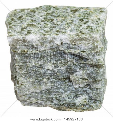 Quartz Mica Schist Mineral Isolated On White