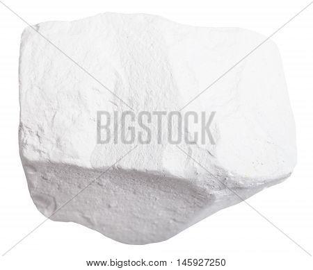 Specimen Of Chalk Rock Isolated
