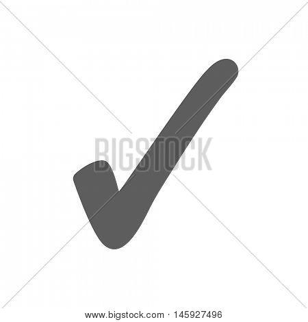 Checkmark icon illustration on a white background