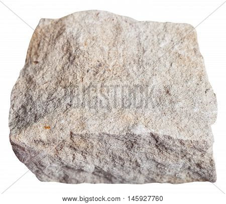 Dolomite Mineral Isolated On White