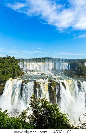 Iguazu Falls National Park in Parana State, border of Brazil and Argentina