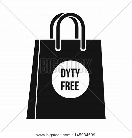 Duty free shopping bag icon in simple style isolated on white background vector illustration