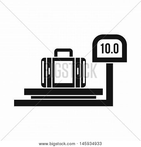 Luggage weighing icon in simple style isolated on white background vector illustration