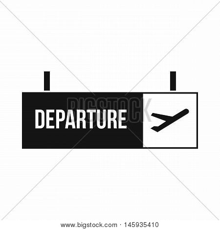 Airport departure sign icon in simple style isolated on white background vector illustration