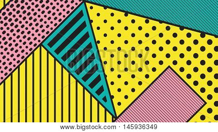 Black And White Pop Art Geometric Pattern
