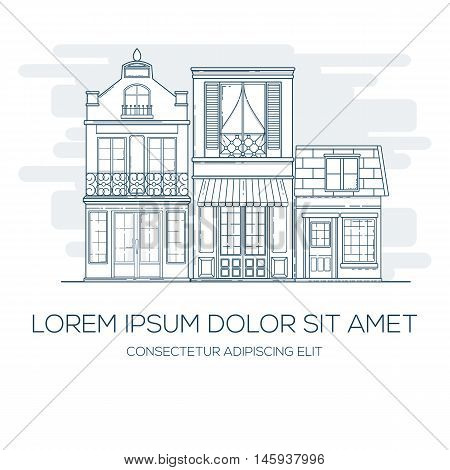 House invitation card can be used for holiday cards, invitation, postcard or website.