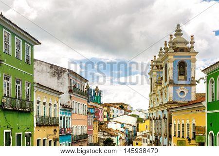 BAHIA, BRAZIL - CIRCA JULY 2016: The historic centre of Salvador, Bahia, Brazil