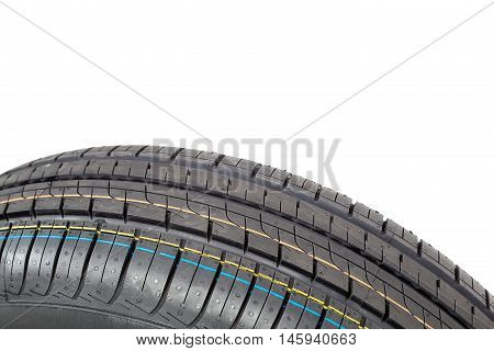 Car tires isolated on the white background.