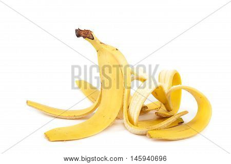 Banana peel isolated on a white background.