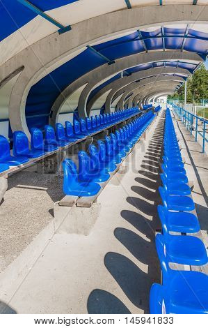 Seats On Tribune Sports Stadium