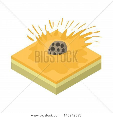 Meteor falling icon in cartoon style on a white background vector illustration