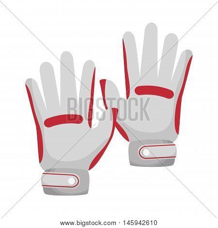 golf hands gloves sport player equipment  vector illustration