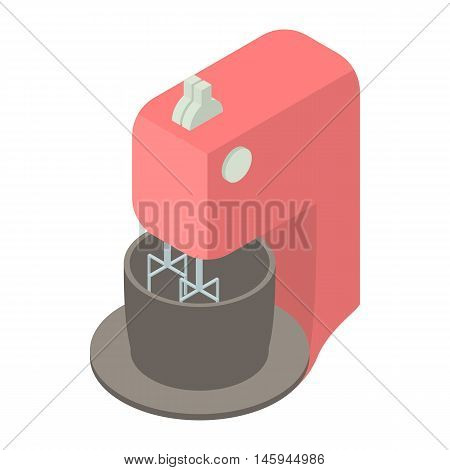 Kitchen mixer with bowl icon in cartoon style on a white background vector illustration